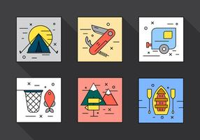 Camping Vector Pictogrammen