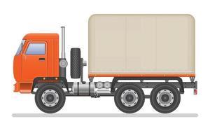 overdekte vrachtwagen geïsoleerd vector