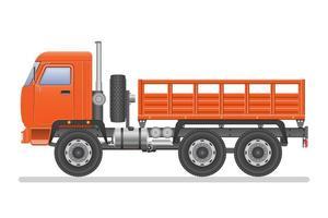 lege vrachtwagen geïsoleerd vector