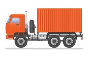 container vrachtwagen geïsoleerd vector