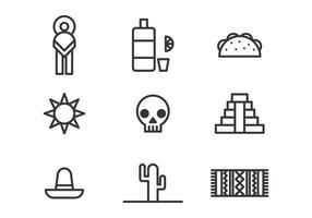 Mexicaanse Pictogrammen vector