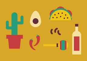 Elementen uit Mexico vector