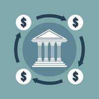 bankconcept in plat ontwerp