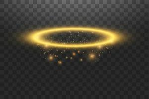 gouden halo engel ring vector