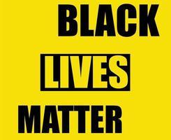 symbool zwarte levens zijn belangrijk