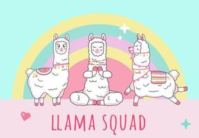 lama alpaca inscriptie ploeg op eenhoorn ploeg