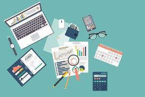analyse-elementen voor belastingaudits vector