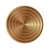 gouden schild geïsoleerd vector