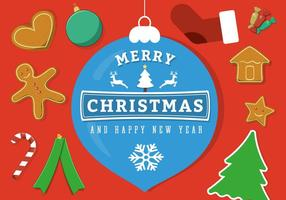 Gratis Vector Vrolijke Kerst Achtergrond