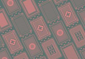 Speelkaart Achter Patroon Vector