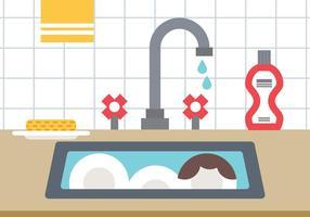 Vuile keuken vector