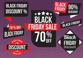 Gratis zwarte vrijdag vector labels