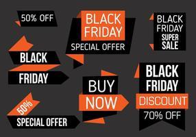 Gratis Black Friday Labels Vector
