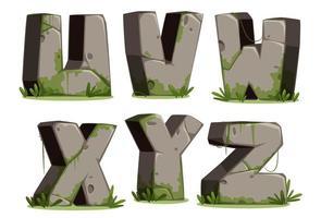 jungle font, deel 4 vector