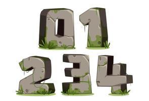 jungle lettertypenummers, deel 1 vector