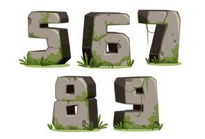 jungle lettertypenummers, deel 2 vector