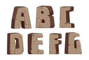 lettertype in steenstijl, deel 1 vector