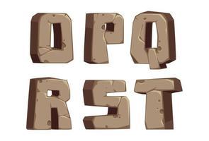 lettertype in steenstijl, deel 3 vector