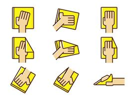 Vector Hand Wipe Icon