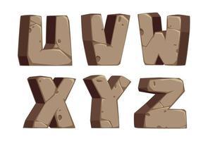 lettertype in steenstijl, deel 4 vector