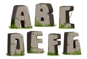jungle font, deel 1 vector
