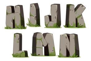 jungle font, deel 2 vector