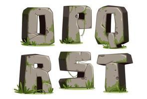 jungle font, deel 3 vector