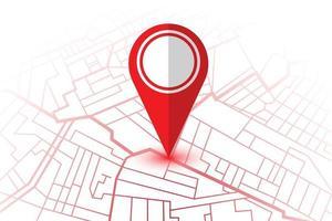 kaart met locatiepin vector
