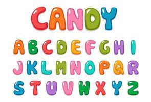 leuk, snoep-kleur, lettertypeset vector