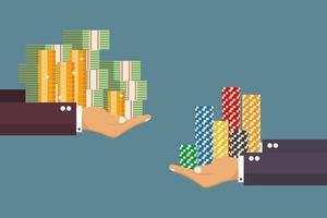 wissel contant geld in voor casinofiches