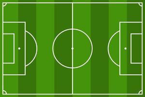weergave van voetbalveld vector