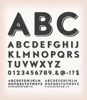 vintage grunge en tattoo stijl abc lettertype vector