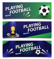 set van voetbal of voetbalbanners