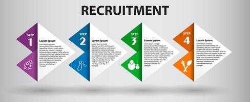 kleurrijke driehoekige 4 stappen infographic vector