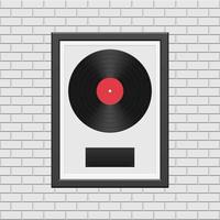 vinylplaat met zwart frame vector