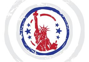 USA Stempel Vectorillustratie