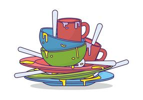 Vuile Dishes Vector
