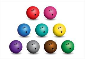 Bowlingballetjes vector