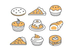 Bakkerij / Cake Pictogrammen vector
