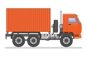 vrachtwagen met geïsoleerde container vector