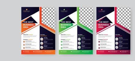 corporate flyer moderne kleurrijke sjabloonontwerp
