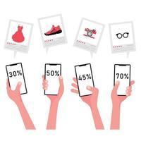 online kortingspercentages voor het verkopen van goederen via de telefoon