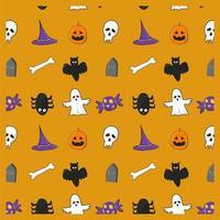 doodle halloween patroon