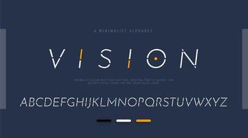 minimalistisch gesegmenteerd alfabet