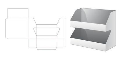 Productdisplay met 2 lagen vector
