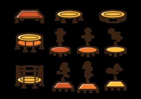 Trampoline pictogram vector
