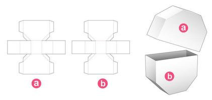 2 stuks achthoekige doos