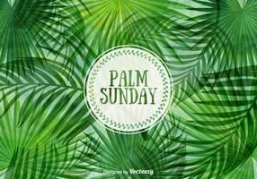 Gratis Palmzondag Vector Illustratie