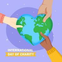 wereldwijde liefdadigheidsdag vector