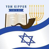 Jom Kipoer Israël posterontwerp vector